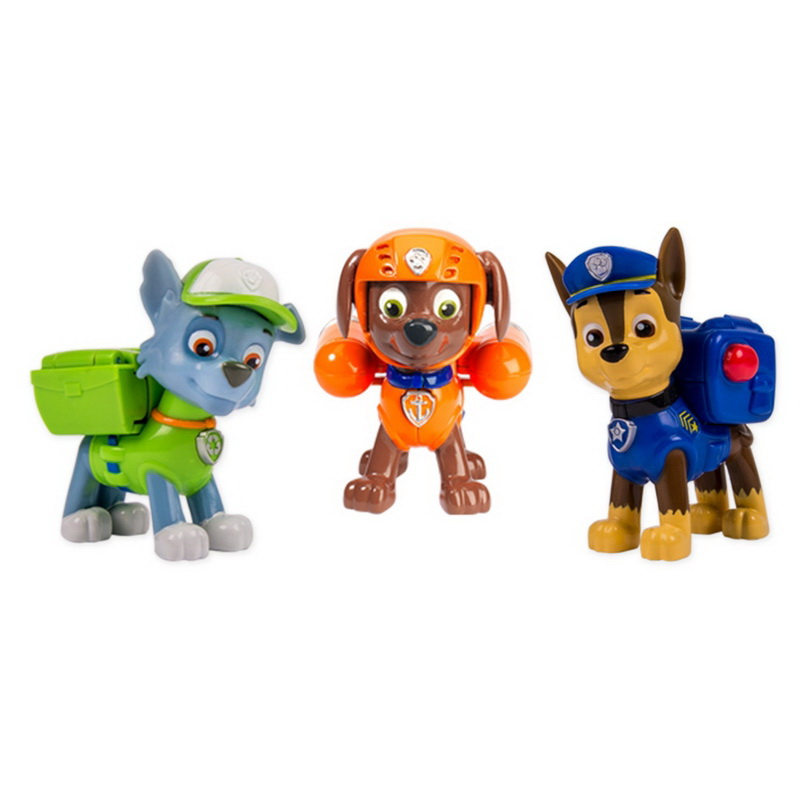 paw patrol 6024061 action pup 3 pack action pack pups chase rocky